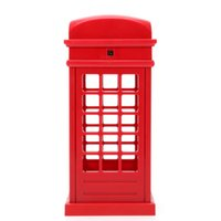 Wholesale chinese touch lamps - Energy Saving Retro London Telephone Booth Night Light USB Battery Dual-Use LED Bedside Table Lamp VES94 T00