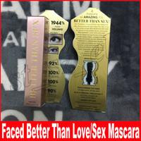 Wholesale waterproof mascara black - Faced Volume Mascara Better Than Sex   better than love Cool Black Mascara Thinck Waterproof Elongation IN STOCK