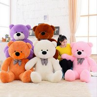 """Wholesale huge teddy bear gift - 5 Colors 100cm 39"""" Giant Plush Teddy Toy Huge Soft Plush Teddy Bear Halloween Christmas Gift Valentine's Day Gifts CCA8596 5pcs"""