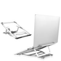 kühler für laptop großhandel-Aluminium Portable Faltbare Halter Unterstützung Einstellbare Desktop Halterung Laptop Stand Kühler Cooling Pad für MacBook Air Pro