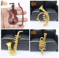 ingrosso miniatura musica-Dollhouse Miniature Music Scala 1:12 Violino Sassofono Soffia