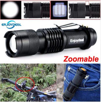 Wholesale New Mini Flashlight Lumens CREE Q5 LED Torch AA Adjustable Zoom Focus Torch Lamp Penlight Waterproof For Outdoor