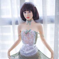 Wholesale japanese style sex dolls - 148cm sex doll Japanese style maid Silicone Metal Skeleton Men Sex Toy Doll Lifelike Adult Male Masturbation Toy Lover Dolls