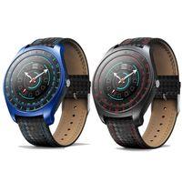 kol saati kalp toptan satış-Sıcak V10 Akıllı İzle Erkekler Kamera ile Bluetooth Smartwatch Adımsayar Nabız apple iphone Android Telefon için Sim Kart Saatler