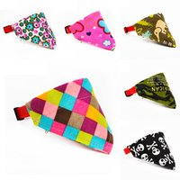 Wholesale Cute Scarf Ties - Dogs Bandana Neckerchief Apparel Pets Cute Tie Accessories Kawaii Adjustable Pet Dog Multi Design Scarf Collar Hot Sale 3sr Z