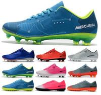 sports shoes 32fe2 3629c 2018 Nouveau pas cher faible enfants FG chaussures de football mercure Cr7  Victory VI TF garçons chaussures de football