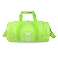 f60c207128 2018 Hot Fashion Gym Bag Traveling Luggage Handbags Cylinder Package Bag  Women Men For Fitness Training Yoga Tote Handbag