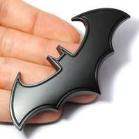 cool emblèmes auto achat en gros de-3D Cool Metal Bat man auto Logo De Voiture Autocollant de Bande Dessinée Badge De Métal Emblème Queue Decal Moto Voiture Styling Décoration Accessoires