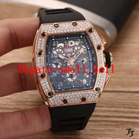 Wholesale automatic machine products - New Products Luxury Brand 11-02 Watch Automatic Stainless Steel Automatic Machine Wrap 43mm Sports Men Rubber Brand Diamond Watch