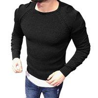 ingrosso maglioni militari per gli uomini-Maglioni degli uomini di nuovo inverno moda autunno inverno Slim Fit uomini Pullover Trend lavorato a maglia Jacquard Army Green Maglione Uomini M-XXL