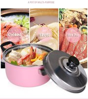 Wholesale stainless cooker resale online - Eco Friendly Set Stainless Steel Cooking Pot Stockpot Gas Induction Cooker Soup Pots Safe Nonstick Pan Household Canning Pot
