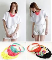 algodão de cor fluorescente venda por atacado-2018 Novo tecido artesanal chinês nó corda de algodão colar de cor fluorescente