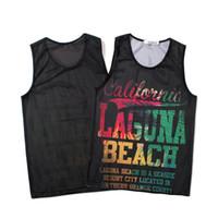 schnelle trockene sportdruckhemden großhandel-Ärmelloses Herren T-Shirt Schnelltrocknendes Sport-Shirt Mode gedruckt Laufen Sportswear Atmungsaktiv Sweat Tops für Männer