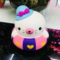 Wholesale new unique toys online - Lovely Swim Ring Bear Squishy Super Soft Slow Rising Pu Squishies Relief Stress Props Children Gifts Toys Unique Decoration New ys Z