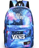 Wholesale Tie Dye Backpacks - New Galaxy Stars Universe Space printing backpack women men school backpack bag Travel bag free shipping