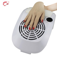 маникюрные ногтевые вентиляторы оптовых-Wholesale- 220V/110V Dust Suction 60W Fan Nail Dust Collector Nail Art Beauty With 2 Bags Manicure Tools Equipment