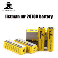 Wholesale rechargeable battery for electronic cigarette online - Originl listman mr battery Rechargeable Batteries A V mAh MR DBHG2 Li ion Battery for Electronic Cigarettes box mod