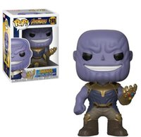 ingrosso imballaggio del giocattolo migliore-1pc confezione al dettaglio 10cm Marvel Avengers 3 Infinity War Thanos Action Figure Cute Model Toy Migliori regali di Natale per i bambini
