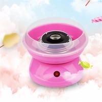 máquina de hilo de algodón de azúcar al por mayor-DIY Electirc Cotton Pink Candy Maker Candyfloss que hace la máquina de algodón de azúcar Sugar Floss Maker Fancy Cloud Party Kitchen Tool