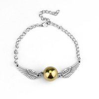 Wholesale harry potter balls for sale - 5Pcs Fashion Harry Quidditch Golden Snitch Bracelets For Women And Men Potter Cute Ball Wings Chain Bracelets Gifts