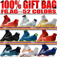 Wholesale Ups Ground - 2018 New Original Cristiano Ronaldo Football Shoes High Tops Mercurial Superfly CR7 Neymar V FG AG Soccer Boots Firm Ground Soccer Cleats