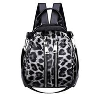 ingrosso i capretti stampano il leopardo dei zainhi-Fashion Leopard Print Zaini piccoli per le donne 2018 Mini Zaino Kids Fashion Back Pack Viaggio in pelle PU Borse invernali