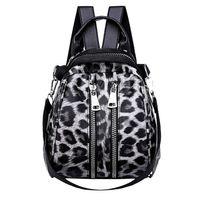 mochilas infantiles estampado leopardo al por mayor-Moda estampado de leopardo pequeñas mochilas para mujeres 2018 mini mochila niños moda mochila de viaje PU bolsos de cuero bolsa de invierno