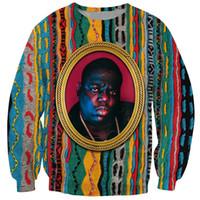 biggie sweatshirts großhandel-2019 Neuestes Biggie 3D Sweatshirt Damen Herren Notorious B.I.G. 3D Print Mode Lässig Oberteile Pullover Streetwear Trainingsanzüge B157
