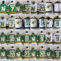 ingrosso vecchi pullover di hockey ccm-Minnesota North Stars Dallas Hockey 91 Tyler Seguin 11 JP PARISE 9 Mike Modano 20 Dino Ciccarelli CCM Old Time Ice Jerseys