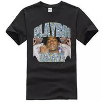 vintages t-shirt hip hop großhandel-Playboi Carti Vintage Hip-Hop Herren Schwarz Tees Shirt Bekleidung T-Shirt Herren 2019 Neu T-Shirts Druck Mode Herren T-Shirt