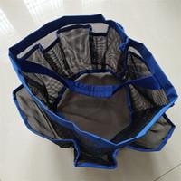 canasta de lavandería con malla al por mayor-Creative Home Storage Baskets Kids Room Juguetes Almacenamiento Bolsas 8 Pocket Wash Ropa Organizador Laundry Net Hand Package Durable 0 5wx Y