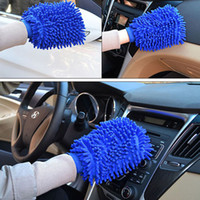 Wholesale car wash sponge gloves resale online - Car Hand Soft Cleaning Gloves Double sided Thickened Chenille Coral Wash Car Gloves Car Sponge Wash Towel Tools cm Can use FBA HH7