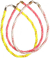 Wholesale beaded necklaces for sale - 2018 stock leather necklace Men Women red stitching wrapped leather cord really cheap jewelry Lobster mom girls gifts sports necklace