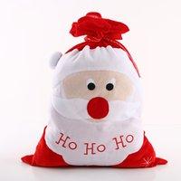 ingrosso grande sacchetto di santa-Regali di Natale Decor regali Borse Babbo Natale Stocking Big Red Creative Tuba Sacchetto di immagazzinaggio riutilizzabile Home 12 8mg jj