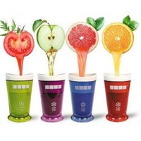 milkshake dondurmalar toptan satış-5 Renkler Yaratıcı Yeni Meyve Suyu Fincan Meyve Kum Dondurma Slush Shake Maker Slushy Milkshake Smoothie Kupası CCA6315 10 adet