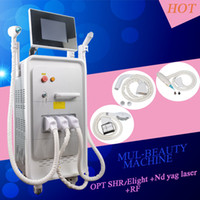 Wholesale rf machines for face resale online - New Powerful Hair Removal IPL SHR Elight OPT machine nd yag laser Tattoo removal machine rf machine for face and body Skin Tightening