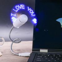 coolest new gadgets 도매-Usb 깜박임 단어 팬 독창성 DIY 미니 뱀 모양 쿨 가제트 새로운 내구성 조정 가능한 가제트 유연한 주도 라이트 팬 10sx gg