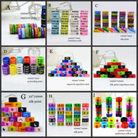 Wholesale superhero rings - 10 Styles Silicon band beauty ring silicone superhero luminous engraved vape band 22mm 26mm for mech mods rta rda atomizer decorative vapor