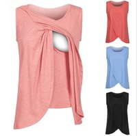 Wholesale maternity clothes for summer for sale - Group buy 10pcs summer Pregnancy Maternity Tops Breastfeeding Shirt Nursing Tops Tank For Women Breastfeeding Shirt Clothes M263