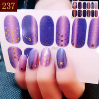 Wholesale glitter nail wraps - New Arrival Holographic Starry Sky Series Glitter Nail Art Transfer Sticker Full Nail Foil Wraps Decal Decor
