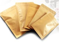 taille du café achat en gros de-12 tailles 100 pcs petit / grand sac en papier kraft sacs d'emballage alimentaire, ziplock échantillon de café paquet sacs brun kraft sachet de thé