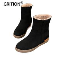 ingrosso scarpe calde impermeabili alla caviglia calde-GRITION Women Winter Warm Fashion Boots Classic Comodo impermeabile impermeabile Flock antiscivolo Cammello nero Snow Boots
