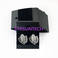 Wholesale store supply wholesale - 5*4.5cm Plastic Velvet Earring Ear Studs Holder Display Hang Cards Black Jewelry Stores Necessities QW7602