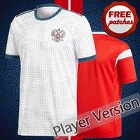 Wholesale Men Tight Football Shorts - Top Thai Quality Russia 2018 2019 Player Vesion Tight Home Away Soccer Jerseys SMOLOV KOKORIN DZAGOEV World Cup Camisa de Football Shirts