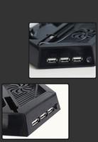 controlador ps4 más frío al por mayor-venta caliente PS4 Vertical 3 USB HUB Stand Estación de Carga con Ventilador de Enfriamiento Dispersa Calor Para PlayStation 4 Consola Controladores PS4