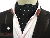 foulards blancs points noirs achat en gros de-Écharpe formelle britannique de style britannique élégante avec foulards à pois blancs