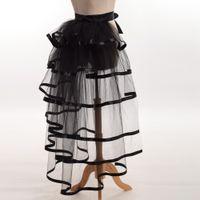 cinturón rapido al por mayor-1pc Mujeres Victorian Steampunk Black Bustle Mujeres Tutu Belt Lace Underskirt NUEVO High Qualitu Envío rápido