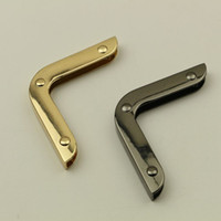 çin altın metal toptan satış-Çin Toptan Metal Çanta Aksesuarları Loy Işık Başına 10 Adet Altın Gunemtal Metal Süs Bagaj Çanta Parçaları Metal Kilit Kanca