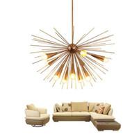 Wholesale light fixtures online - Luxury Modern LED Chandelier Lighting Creative Design E27 Iron Hanging Lamp Heads for Dining Living Room Light Fixtures
