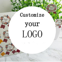 Wholesale custom sticker prints resale online - Print Photo custom stickers label Wedding Stickers Personalise LOGO transparent clear adhesive round label Gift Tags decoration